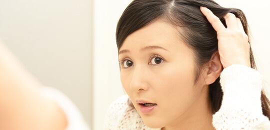 全体的な薄毛はストレスチェックイメージ